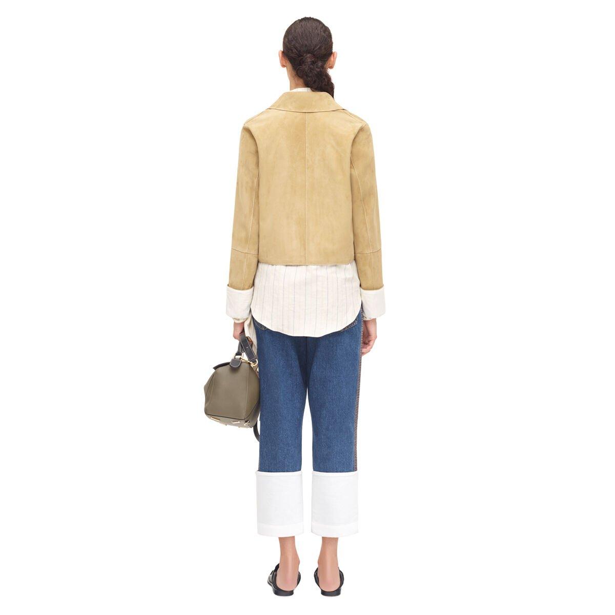 LOEWE Cropped Jacket Gold front