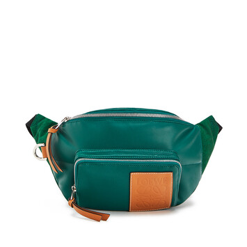LOEWE Bumbag Puffy Forest Green front