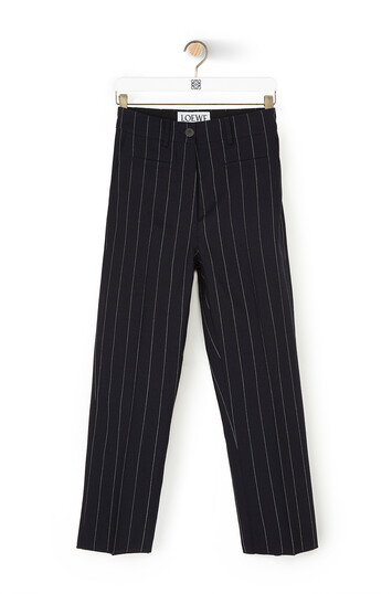 LOEWE Stripe Fisherman Trousers Navy/White front