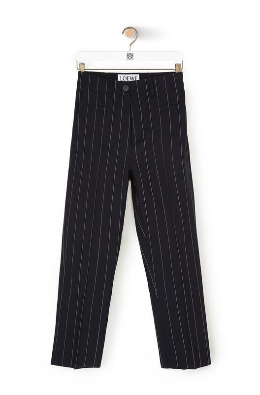 LOEWE Stripe Fisherman Trousers Navy/White front