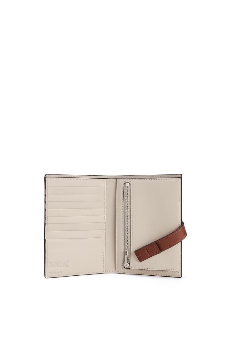 LOEWE Medium Vertical Wallet in soft grained calfskin Narcisus Yellow/Pecan pdp_rd