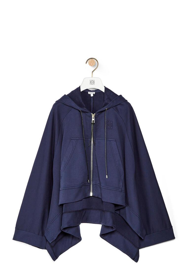 LOEWE Sudadera en algodón con capucha y Anagrama oversize Marino pdp_rd