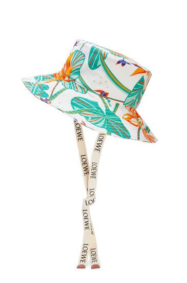 LOEWE Fisherman hat in printed canvas 白 pdp_rd
