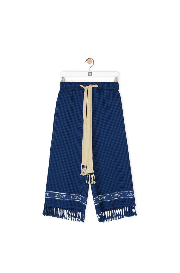 LOEWE 棉质 LOEWE 镶边短裤 海军蓝 pdp_rd