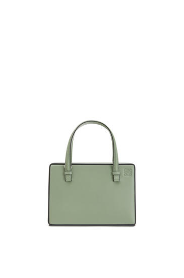 LOEWE Small Postal bag in natural calfskin Pale Green pdp_rd