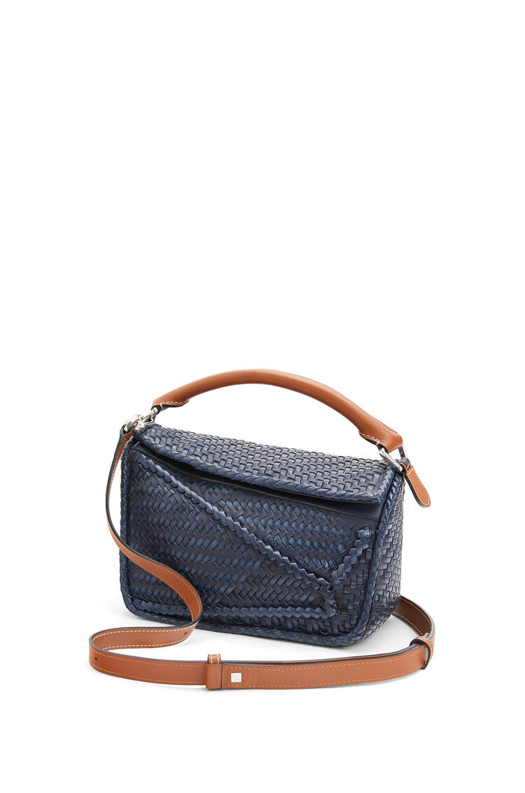 LOEWE Small Puzzle bag in buffalo and calfskin Navy Blue pdp_rd