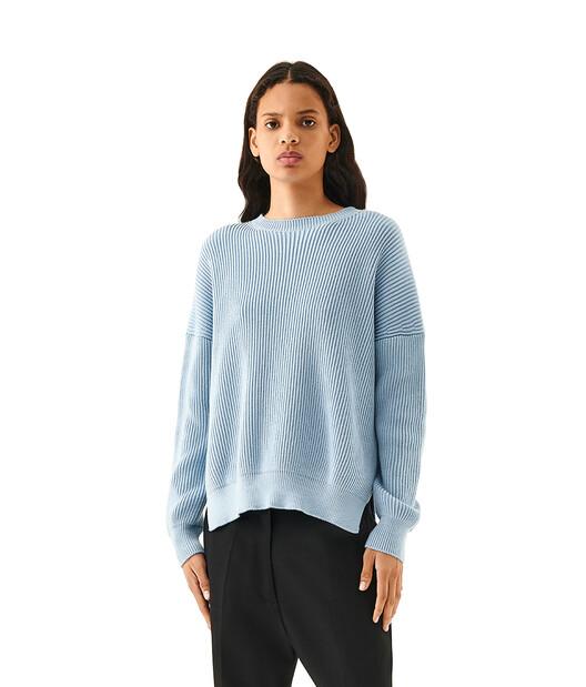 LOEWE Rib Sweater Azul Bebe front