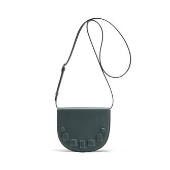 LOEWE Mini Bolso Heel Jeweled Cipres front