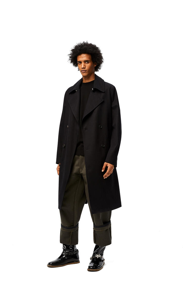 LOEWE Trench coat in cotton Midnight Blue pdp_rd