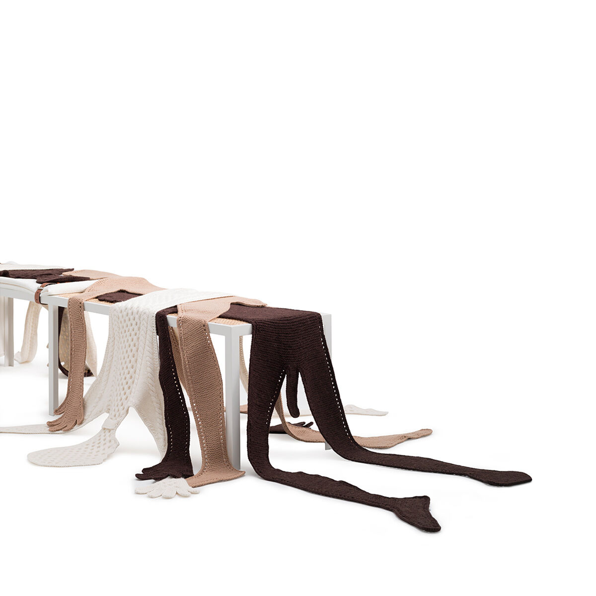 LOEWE Set Double Bench And Figures 白色/多色 all