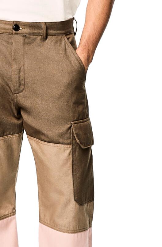 LOEWE Eln Trousers Verde/Rosa front