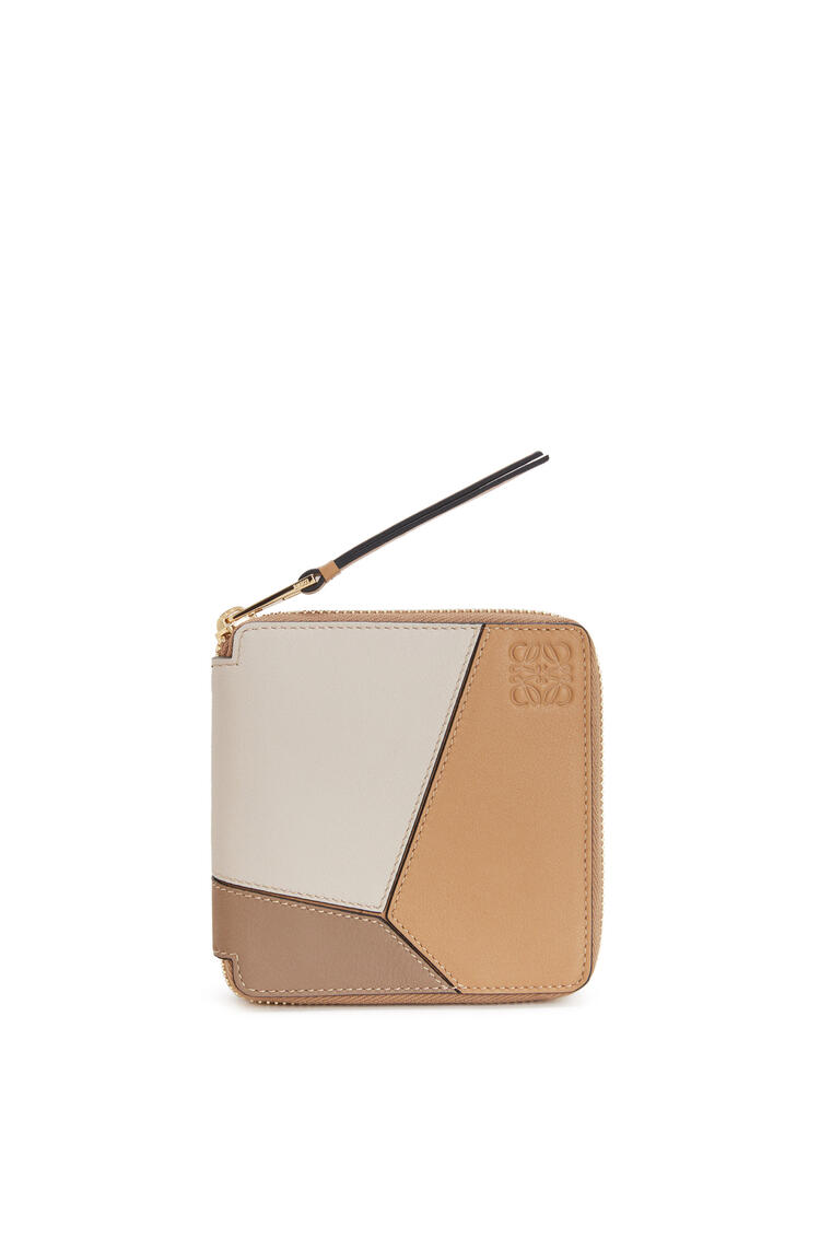 LOEWE Puzzle squared zip wallet in classic calfskin Warm Desert/Mink Color pdp_rd