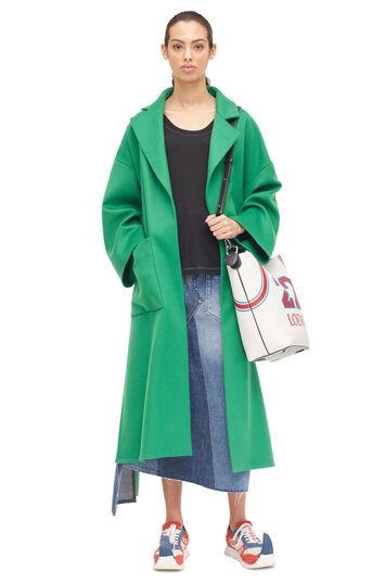 LOEWE Oversize Belted Coat Verde front