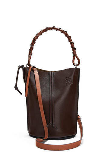 LOEWE Gate Bucket Handle Bag Brunette front