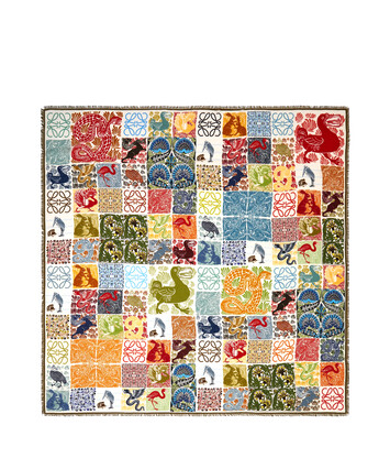 LOEWE 140X140 Scarf Animals Multicolor front