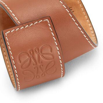 LOEWE Small Slap Bracelet 棕色 front