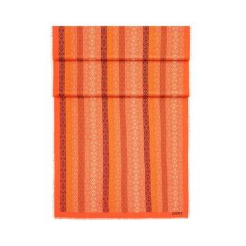 LOEWE 70X200  Anagram Scarf Orange/Multicolor front