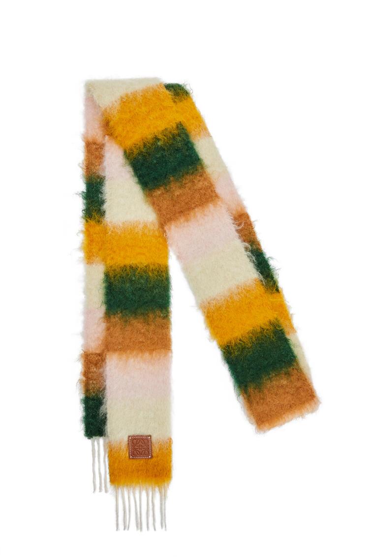 LOEWE Stripe scarf in mohair Orange/Yellow pdp_rd