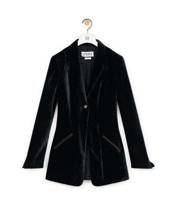 LOEWE Velvet Jacket ブラック front