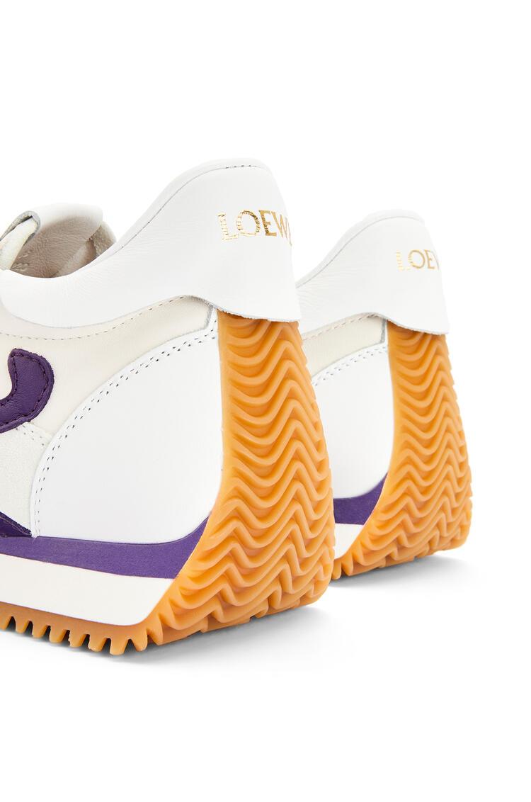 LOEWE 羊皮革流畅跑鞋 White/Purple pdp_rd
