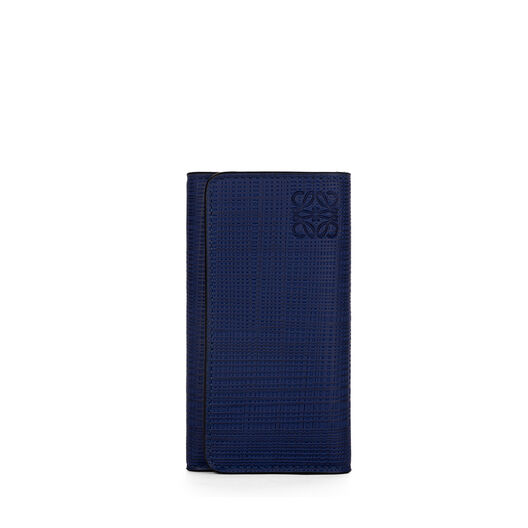 LOEWE 6 Keys Keyring Navy Blue front