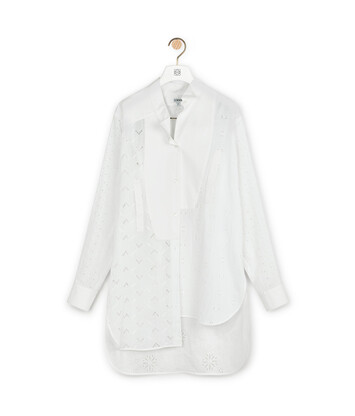 LOEWE Long Asym Shirt Broderie Blanco front
