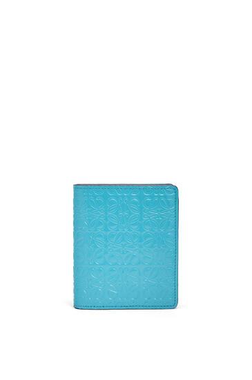 LOEWE Compact zip wallet in calfskin Peacock Blue pdp_rd