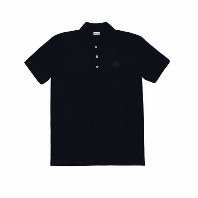 LOEWE Anagram Polo Navy Blue front