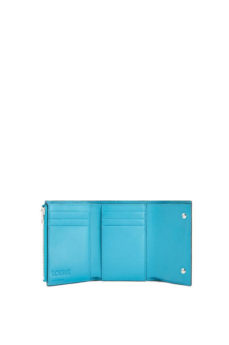 LOEWE Small vertical wallet in calfskin Peacock Blue pdp_rd