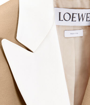 LOEWE Tuxedo Jacket Beige front