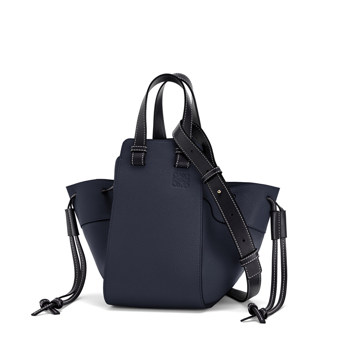 LOEWE Hammock Drawstring Small Bag Midnight Blue/Black front