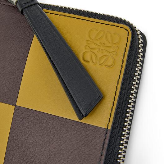 LOEWE Square Zip Wallet Bicolor Ochre/Taupe front