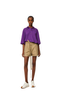 LOEWE Oversize Anagram polo in cashmere and cotton Violet pdp_rd