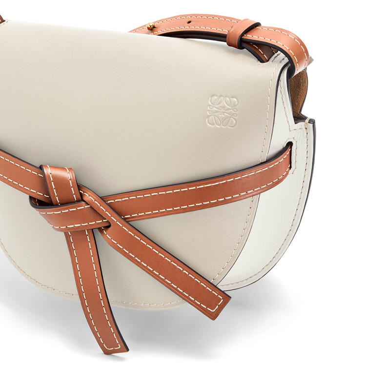 LOEWE Small Gate bag in soft calfskin Light Oat/Soft White pdp_rd