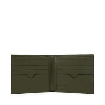 LOEWE Billetero Negro/Verde Kaki front