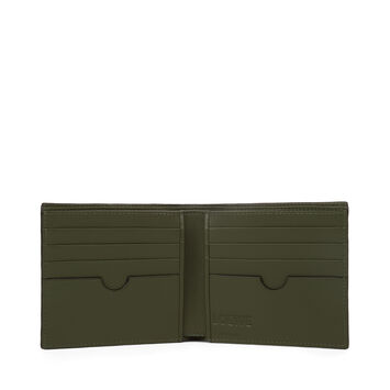 LOEWE Bifold Wallet Black/Khaki Green front