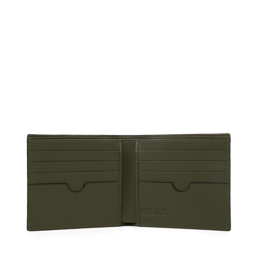 LOEWE Bifold Wallet Black/Kakhi Green all