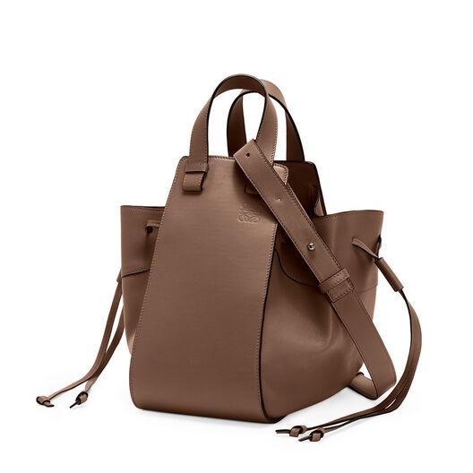 LOEWE Hammock Drawstring Medium Bag Brunette front
