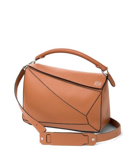 LOEWE Puzzle Large Bag 棕色 front