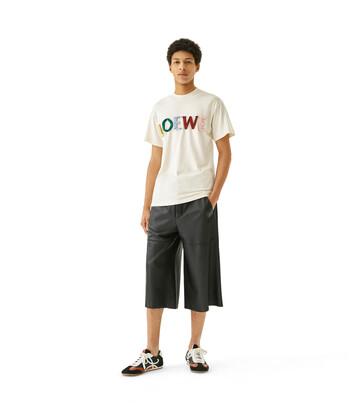 LOEWE Loewe Cut T-Shirt Multicolor front