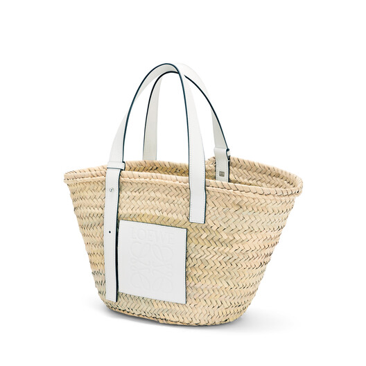 LOEWE Bolso Cesta Natural/Blanco front