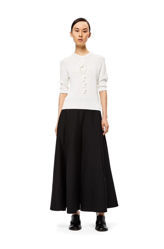 LOEWE Culotte Trousers Negro front