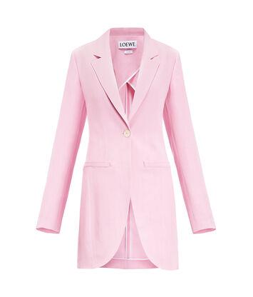 LOEWE Long Cutaway Jacket 粉色 front
