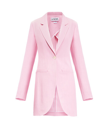 LOEWE Long Tailored Jacket Rosa front