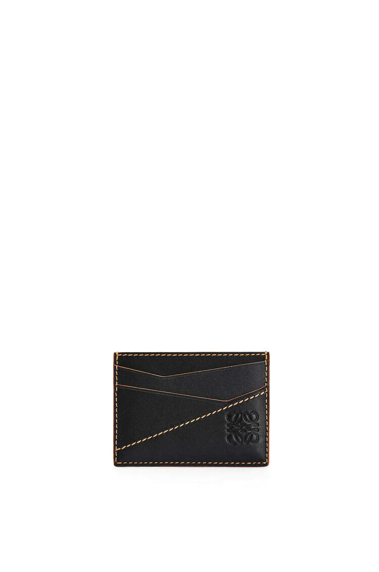 LOEWE Puzzle stitches plain cardholder in smooth calfskin Black pdp_rd