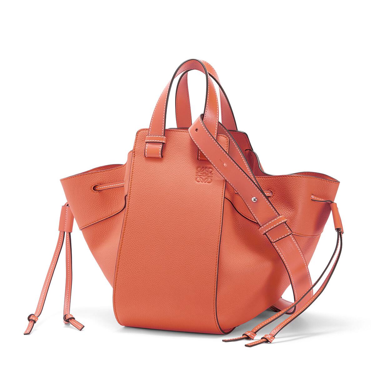 LOEWE Hammock Drawstring Medium Bag Pink Tulip front