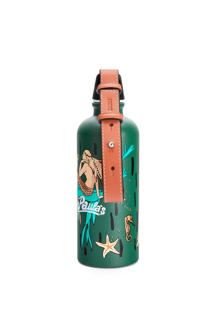 LOEWE Bottle in printed aluminium and calfskin 綠色 pdp_rd