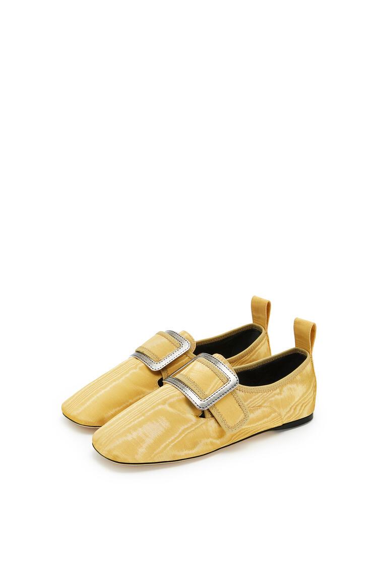 LOEWE Buckle slipper moire in viscose Mustard pdp_rd