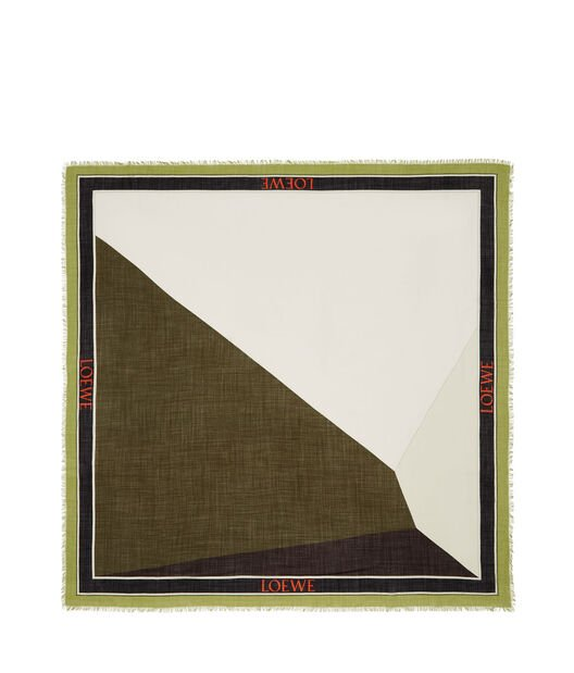 LOEWE 140X140 Scarf Puzzle Border Verde front