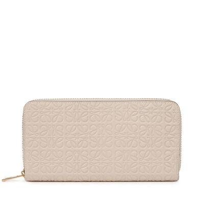 LOEWE Zip Around Wallet Ivory front